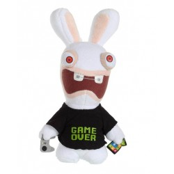Peluche Lapin Cretin Sonore Geek