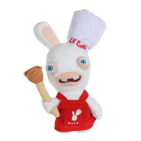 Peluche Lapin Cretin Sonore Chef Cuisinier