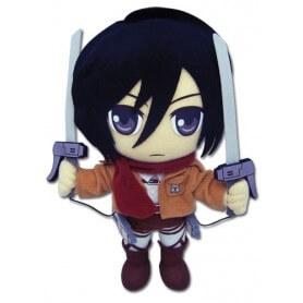Peluche Attaque des Titans Mikasa