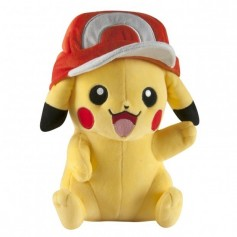 Peluche Pokemon Pikachu avec casquette