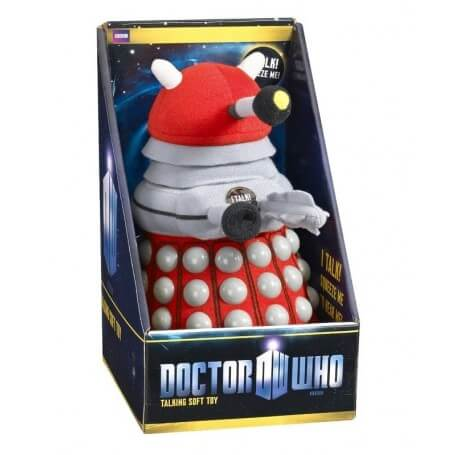 Peluche Doctor Who Dalek rouge sonore