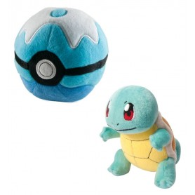 Peluche Pokemon Carapuce avec Scuba Ball