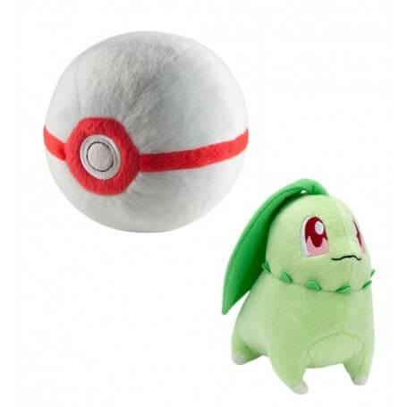 Peluche Pokemon Hericendre avec Bis Ball