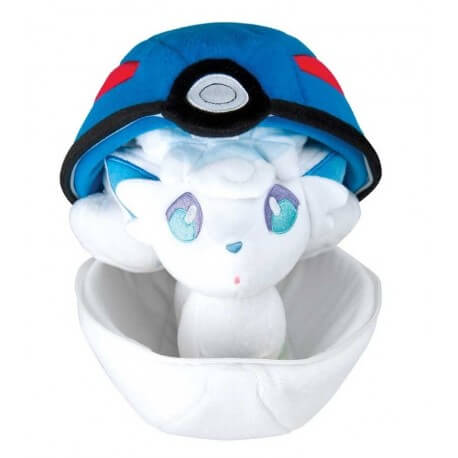 Peluche Pokemon Zipper Ball Goupix d'Alola